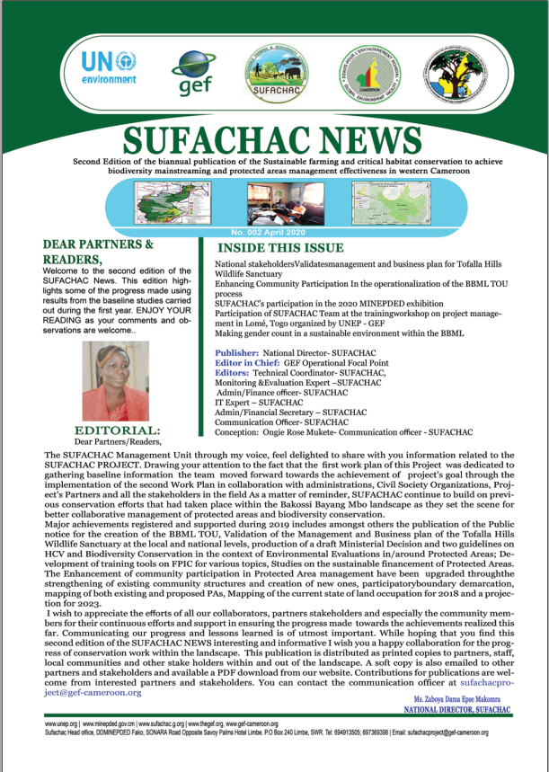 SUFACHAC biannual publication N° 002 April  2020